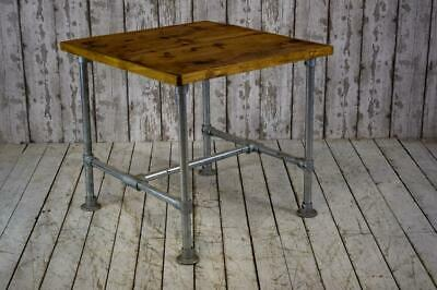 Vintage Style Industrial Scaffolding Scaffold Wood Metal Cafe Bar Kitchen Table