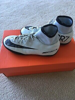 ef079b760 Nike CR7 Mercurial X White And Black Boys Size UK3 VicCRDF TF J74 Astro Turf