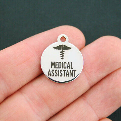 Medical Assistant Stainless Steel Charm  - Quantity Options - BFS431