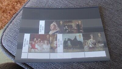 Gb 2019 Queen Victoria Set Of 6 Mint Stamps With Sale Date 2019  On Tabs - Mnh