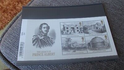 Gb 2019 Queen Victoria The Legacy Of Prince Albert Mini Sheet With Barcode Mnh