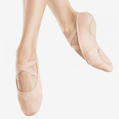 Bloch 220 Flesh Nude Canvas Infinity Stretch Ballet Dance Shoes