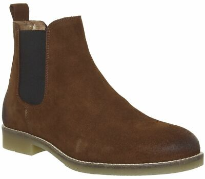 Mens Office Brown Suede Pull On Ankle Boots Size UK 7 *Ex-Display