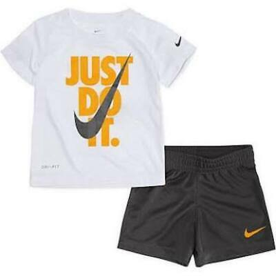 8ec8b3dea NIKE T SHIRT Shorts 2 piece Boys Athletic Short Sleeve 24 Action ...