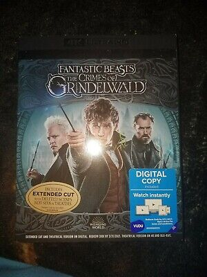 FANTASTIC BEASTS THE CRIMES OF GRINDELWALD~ 4K ULTRA HD + Blu-Ray + Digital *New