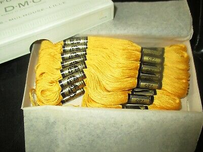 BOX Of Vintage 21 Skeins of DMC MEDIUM GOLD 6-Strand EMBROIDERY FLOSS - #725