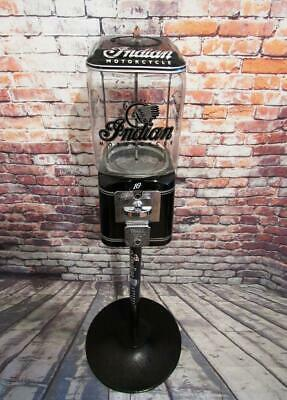 Vintage gumball machine glass coin op Indian motorcycle Americana memorabilia