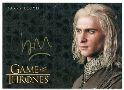 2019 Game of Thrones Inflexions Harry Lloyd Autograph (Gold)
