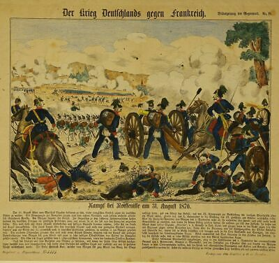 Image Gallery German-Prussian War 1870 Coloured Lithography Noisseville