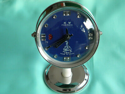 Lovely Rare Vintage Five Rams Retro Chinese Alarm Clock