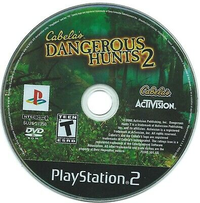 Cabela's Dangerous Hunts (PS2 Playstation 2)Replacement Disc Video Game Only