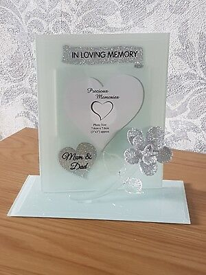 Mum and Dad Grave Ornament Photo Frame Memorial  Remembrance Tribute