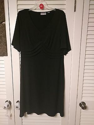 Avenue Womens Plus Size Black Short Sleeve Stretch  Dress  Size 14/16