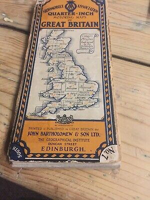 Bartholomew's Quarter Inch Map of Great Britain EDINBURGH -BERWICK N0 8 Pre 1931