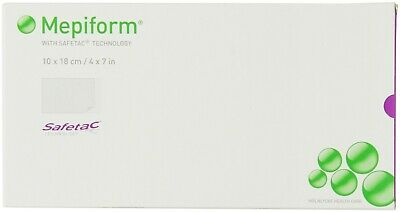 "Mepiform with Safetac Technology 4""x7"", 5 Count, Adhesive Soft Silicone Sheeting"