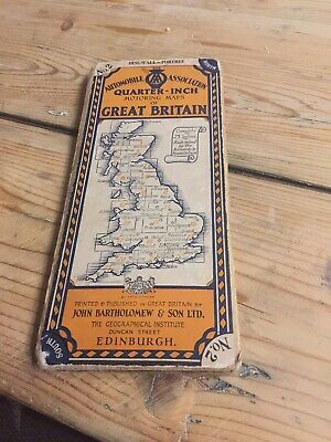 Bartholomew's Quarter Inch Map of Great Britain  Dingwall - Portree Pre 1935