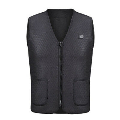Electric USB Riscaldato Warm Vest Uomo Donna Riscaldamento Coat Jacket E6J2