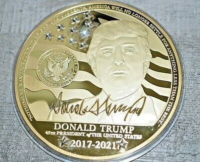 2017 Proof Donald- Trump Four (4) Inch 45th Presidential Commemorative Coin