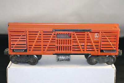 lionel lines pw no  3656 armour operating cattle car freight tested