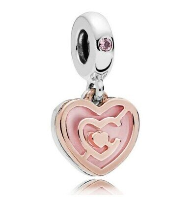 90c68993a Sterling Silver ROSE PATH TO LOVE HANGING CHARM Bead Fit Snake bracelet
