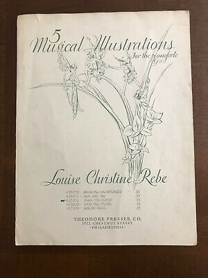 5 Musical Illustrations for the Pianoforte-sheet music-1931 Theodore Presser Co.