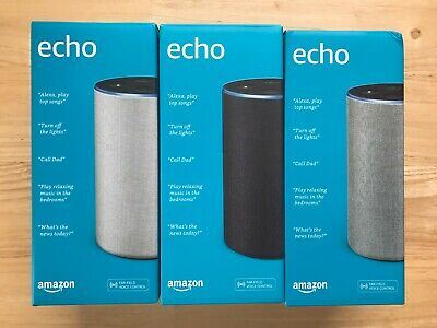 Echo (2nd Generation) - Smart speaker with Alexa- 3 COLORS - Brand NEW