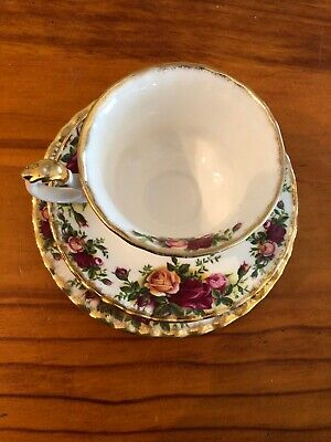 royal albert old country roses Tea Cup, Saucer and Plate