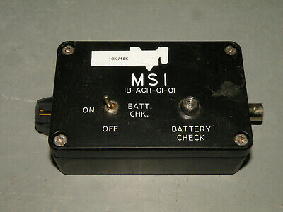 MSI Measurement Specialties IB-ACH-01-01 Interface Amplifier Box