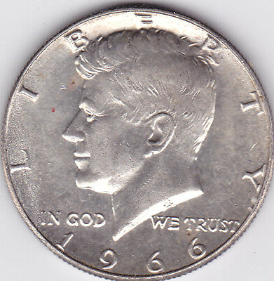 1966 Kennedy Half Dollar in BU condition stk k7