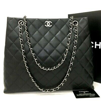 00a1d9d19f2e1b CHANEL Jumbo 30 Quilted Silver Hardware CC Caviar Skin Shoulder Bag /ee941