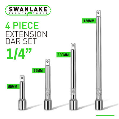 """4x 1//4/"""" LONG Extension Extender Bar Set 2/"""" 3/"""" 4/"""" 6/"""" Drive Wrench Ratchet So W7O1"""