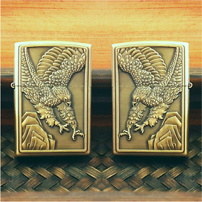 Eagle Bird Flip Top Lighter Oil Kerosene Refillable Windproof Cigarette Lighter
