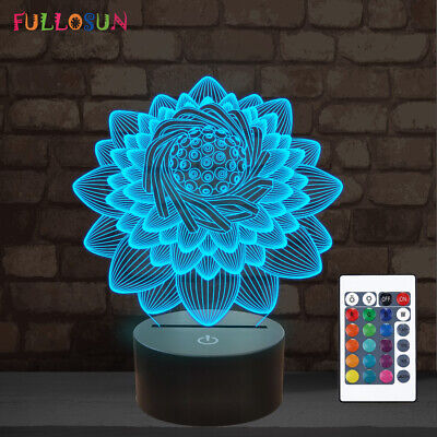 Collections Etc Lotus Flower Touch Lamp Table Lamp With Lotus