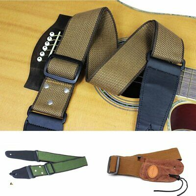 Black Replacement Adjustable pu Guitar Strap Belt for Acoustic/Electric/Bass LA