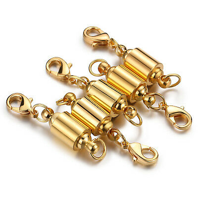 5pcs Magnetic Lobster Clasps Connector Magnetic Clever Clasp Necklace Bracelet