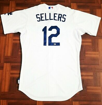 dcdd8beebd5 Dodgers Team Issued Player Worn Jersey Sz 44 Justin Sellers Certified  Authentic