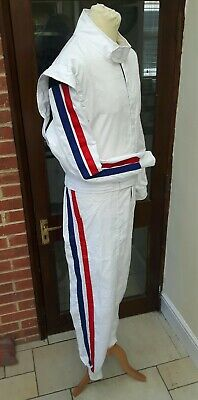 Retro Vintage Striped Historic Car Racing/Driving Suit Track Day/Rally Goodwood