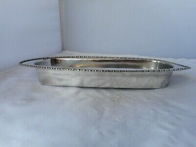 ANTIQUE LEE&WIGFULL SILVER PLATE OVAL BOWL-27.5cms long,11cms wide&3.5cms high