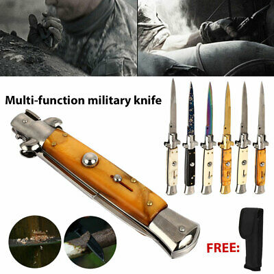 "8"" Tactical Spring Assisted Folding Knife Blade Pocket Assist Open EDC Survival"