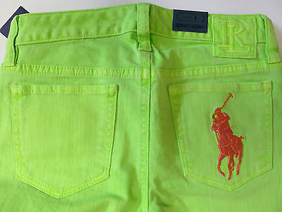 Girls trousers jeans bowery skinny DESIGNER  age 7 8 years big pony RRP $39.50