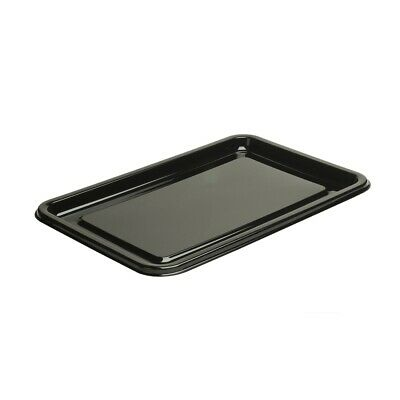 50 x Large Black Rectangular Platters / Lids Recyclable | Catering Supplies
