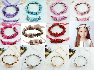 Children Ladies Floral Flower Headband Crown Garland For Any Occasions