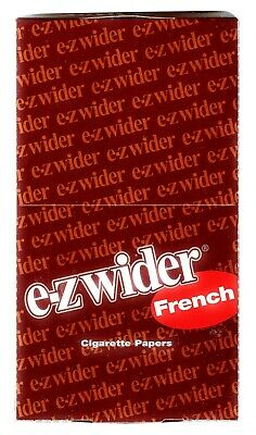 EZ-WIDER French Rolling Papers 24 Booklet packs Brand New & Sealed