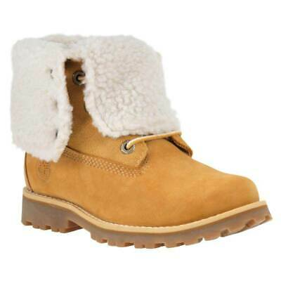 Timberland Authentics 6 In Waterproof Faux Shearling Boot Youth Naranja T71488/