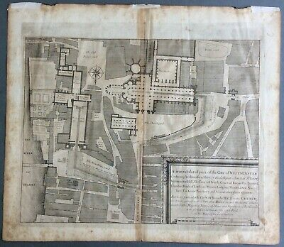 An extremely rare 1687 plan of Westminster by Francis Sandford