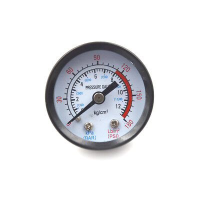 10mm Thread Gas Air Pump Pressure Gauge Compressor Manometer 0-12BAR 0-180PSIITH