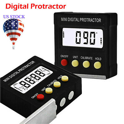Magnetic Base Digital Protractor Angle Gauge Finder Inclinometer level Box US