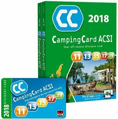 CampingCard 2018 GPS 20 countries - set of two books,ACSI Publishing BV