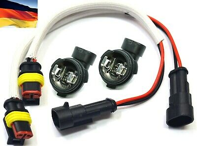 Flosser Wire Harness 1445 Pigtail Female H1 Head Light Bulb Holder Lamp Low Beam