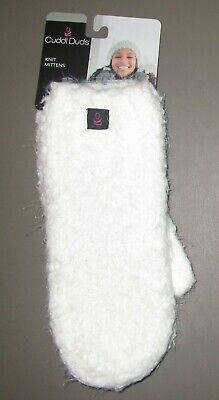 CUDDL DUDS~ONE SIZE~Women's Ivory Space Dyed Knit Mittens 17318